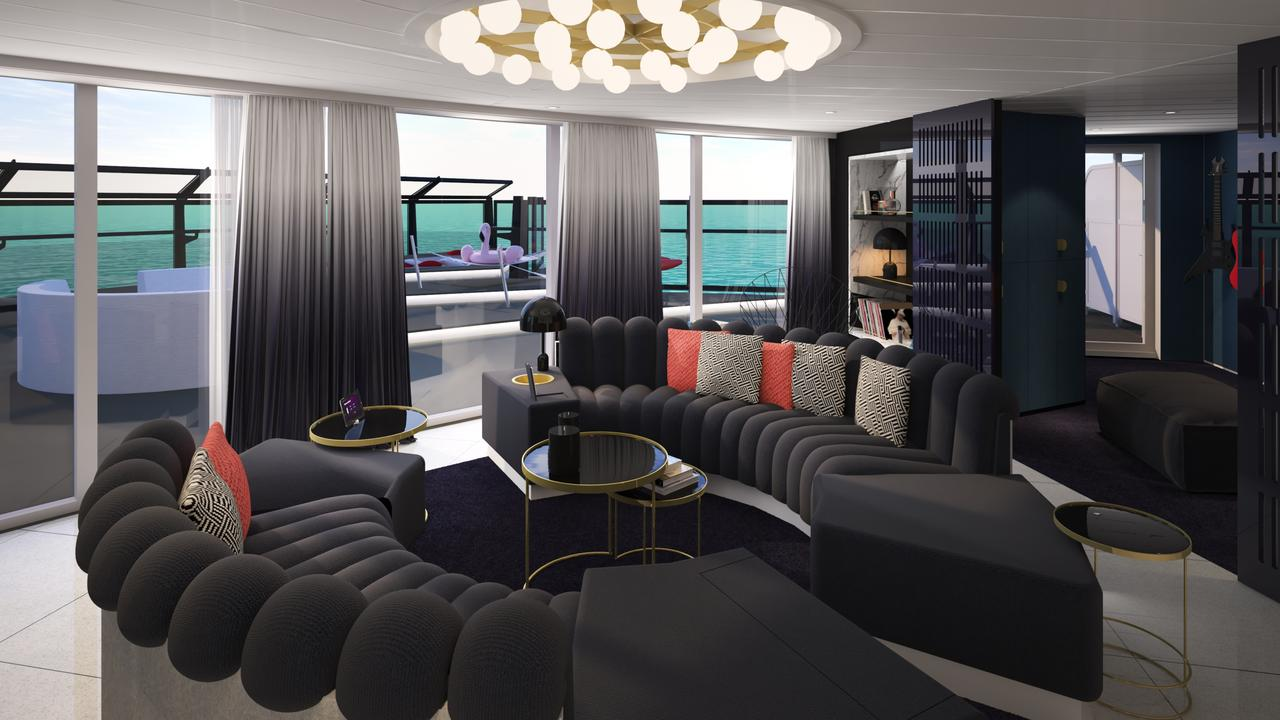 One of the massive suites on board.