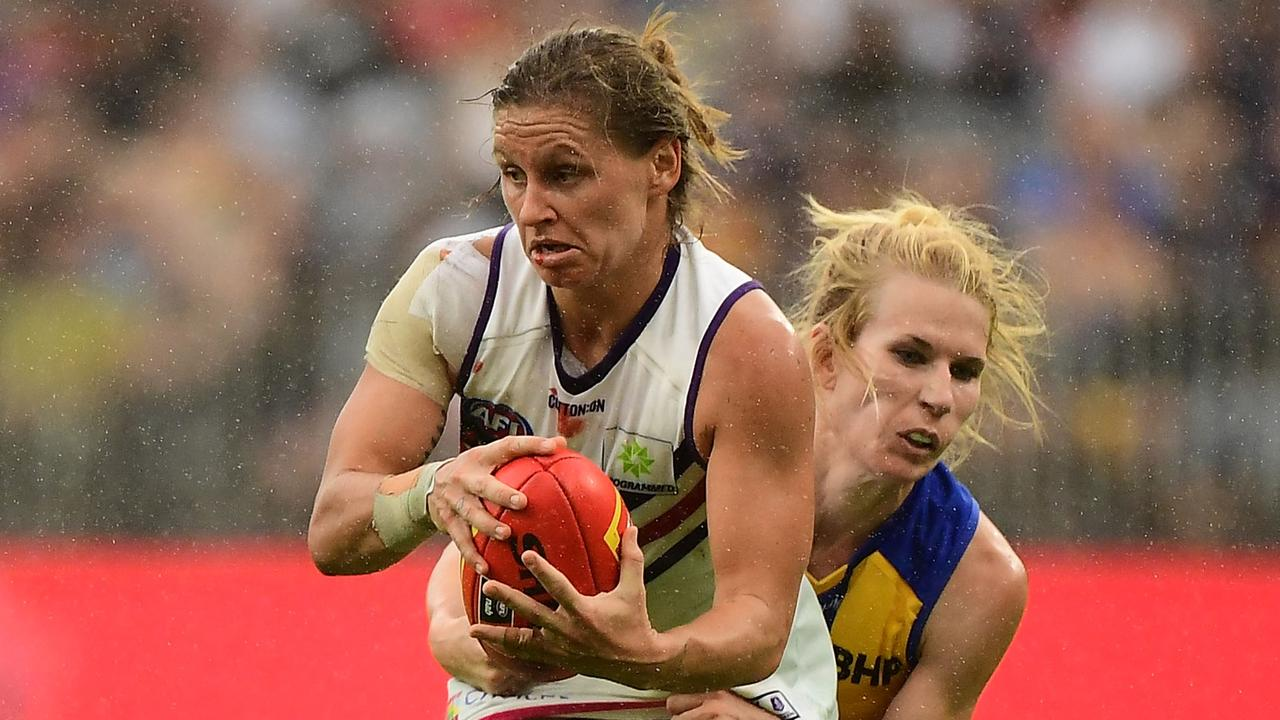 Kiara Bowers' Fremantle Dockers will take on Dana Hooker's West Coast Eagles in Round 2. Picture: Daniel Carson