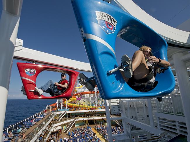 Guests on-board Carnival Vista SkyRide. Picture: Andy Newman/Carnival Cruise Line