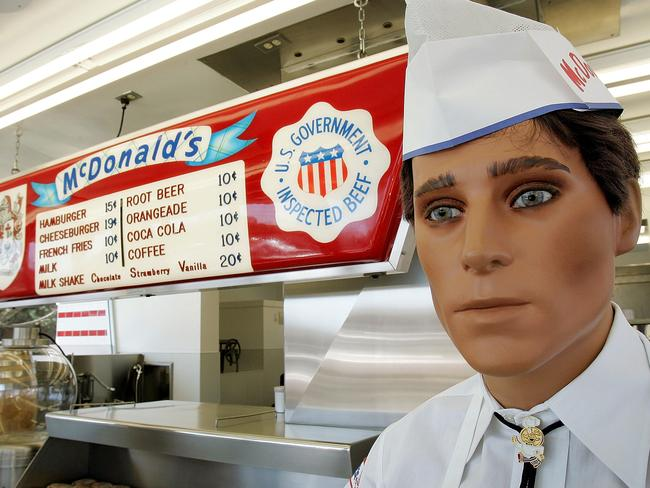 A mannequin dressed in the 1955 McDonald's uniform at the First Store Museum in Des Plaines, Illinois — actually the ninth.