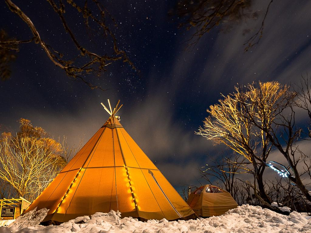 ESCAPE: Hotham Alpine, Dani Wright -  Snowshoe to fondue, Hotham, Alpine Nature Experience. Picture:  Kate Hanton