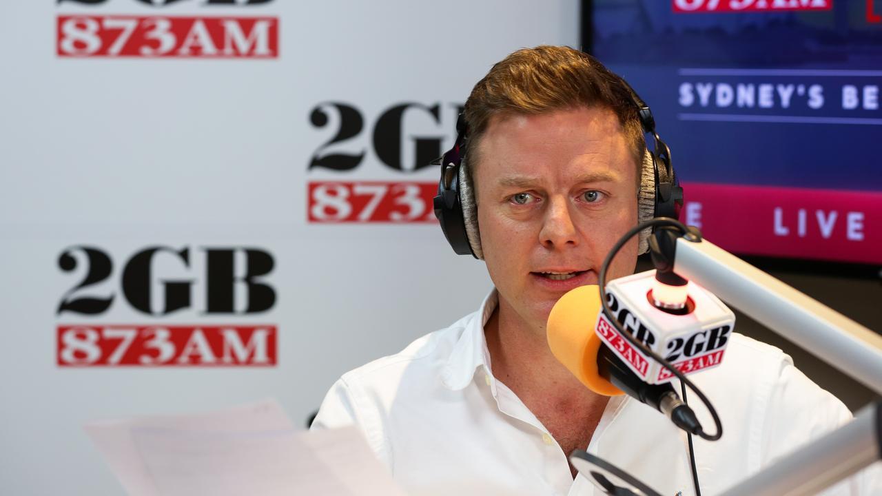 Ben Fordham in the 2GB Studio. Picture: Gaye Gerard/ Daily Telegraph