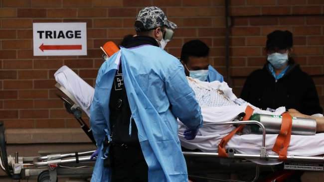 The United States and United Kingdom have both reported their deadliest days amid the coronavirus pandemic.  Picture: Spencer Platt/Getty Images/AFP