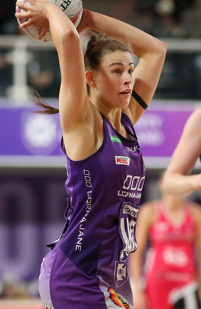 Macy Gardner of the Firebirds will play for the Cougars in the 2021 Sapphires Series. PHOTO: AAP /Jono Searle