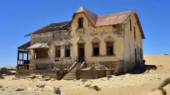 The mining manager's elaborate house deserted in Diamond Desert, Kolmanskop in Namibia. Picture: istock