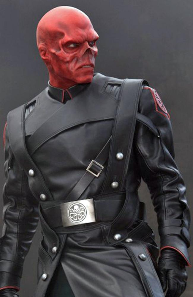 Aussie connection ... Hugo Weaving as Red Skull in Captain America: The First Avenger.