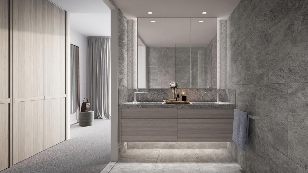A simple but stylish bathroom.