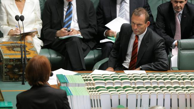 The good old days when Tony Abbott faced off with Julia Gillard in parliament.
