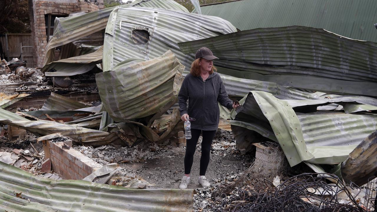 Rosemary Doyle's home was one of 20 Balmoral resident's whose home was destroyed. Picture: Rick Rycroft/AP