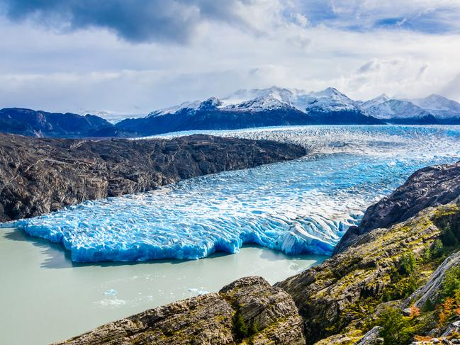 90. GREY GLACIER, PATAGONIA More blue than grey (depending on the light), you'll find the almighty Grey Glacier amidst the wonderland that is the Southern Patagonian Ice Field. This 6km-wide, 30m-high wall of ice is humbling and a reminder of the power of nature.
