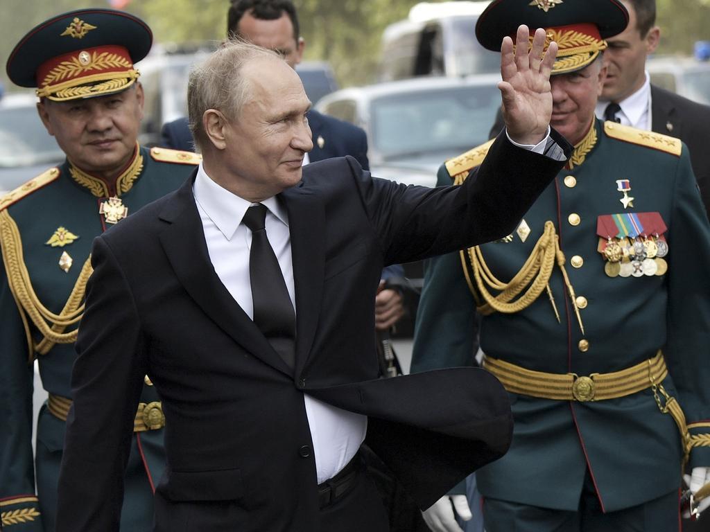 Russian President Vladimir Putin seemed careful at the weekend as unrest spread across Russia. Picture: Alexei Nikolsky, Sputnik, Kremlin Pool Photo via AP