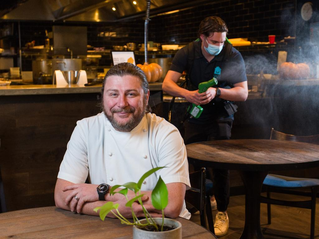 Scott Pickett's Estelle restaurant in Northcote is one of many bsinesses opening with their own QR code checking system. Picture: Paul Jeffers/NCA NewsWire