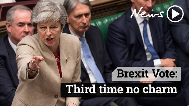 Brexit Vote: Third time no charm