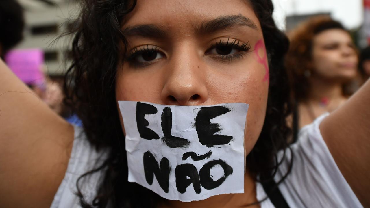 Brazilian women are protesting Jair Bolsonaro with the hashtag #EleNão.