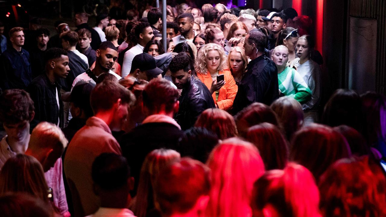 Revellers out on the town on Copenhagen after Denmark declared the Covid-19 pandemic over and removed its Covid-19 restrictions. Picture: AFP