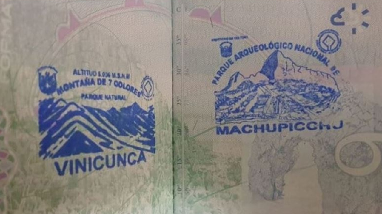 Tina Sibley had two souvenir stamps from Peru in her passport.