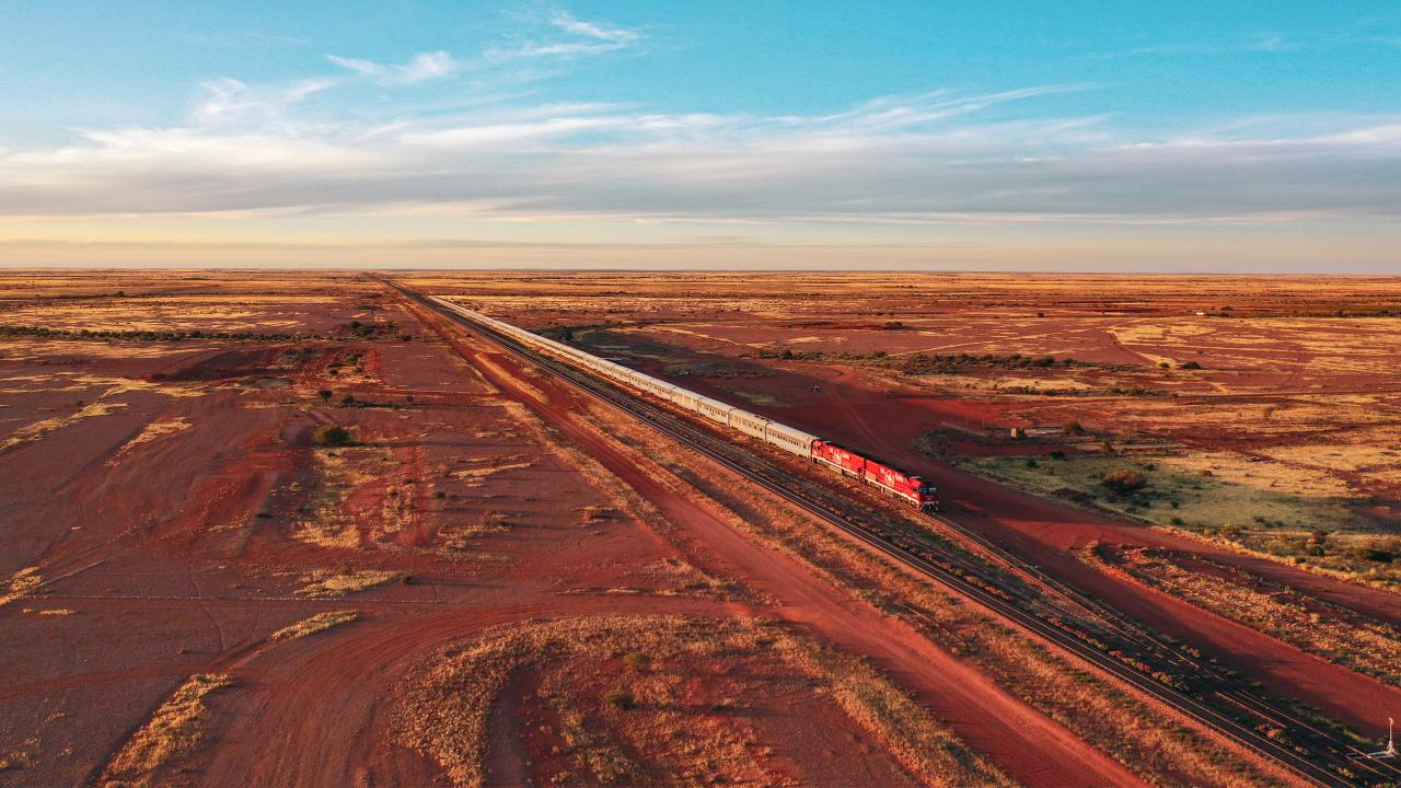 Explore Australia's outback with The Ghan. Picture: Journey Beyond