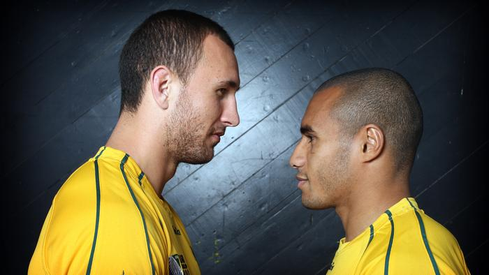 **SPECIAL PROJECTS **  ** DO NOT PUBLISH ** - - Quade Cooper,Will Genia from the Wallabies - pic Adam Smith - story Jim Tucker