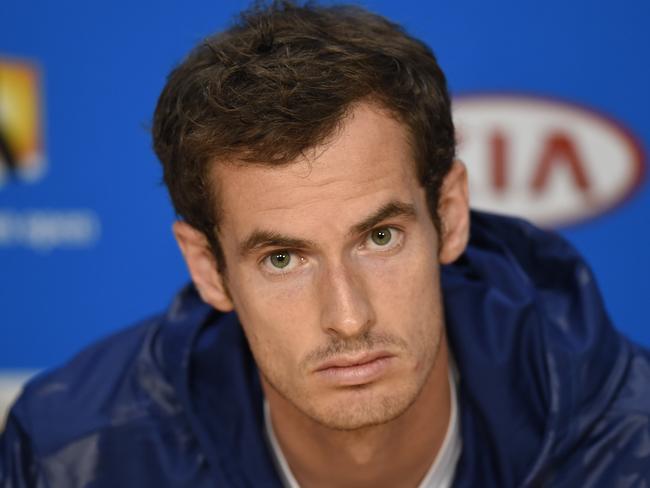 Murray never looks very pleased.