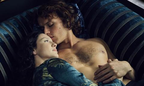 """When Diana Gabaldon, author of Outlander, looked up Sam Heughan on IMDB before watching his audition tape, her initial reaction was, """"This man is grotesque!"""" ... After seeing his audition, she thought otherwise. It's now a running joke on set."""