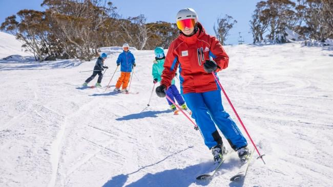 Learn to turn in Thredbo. Picture: Thredbo