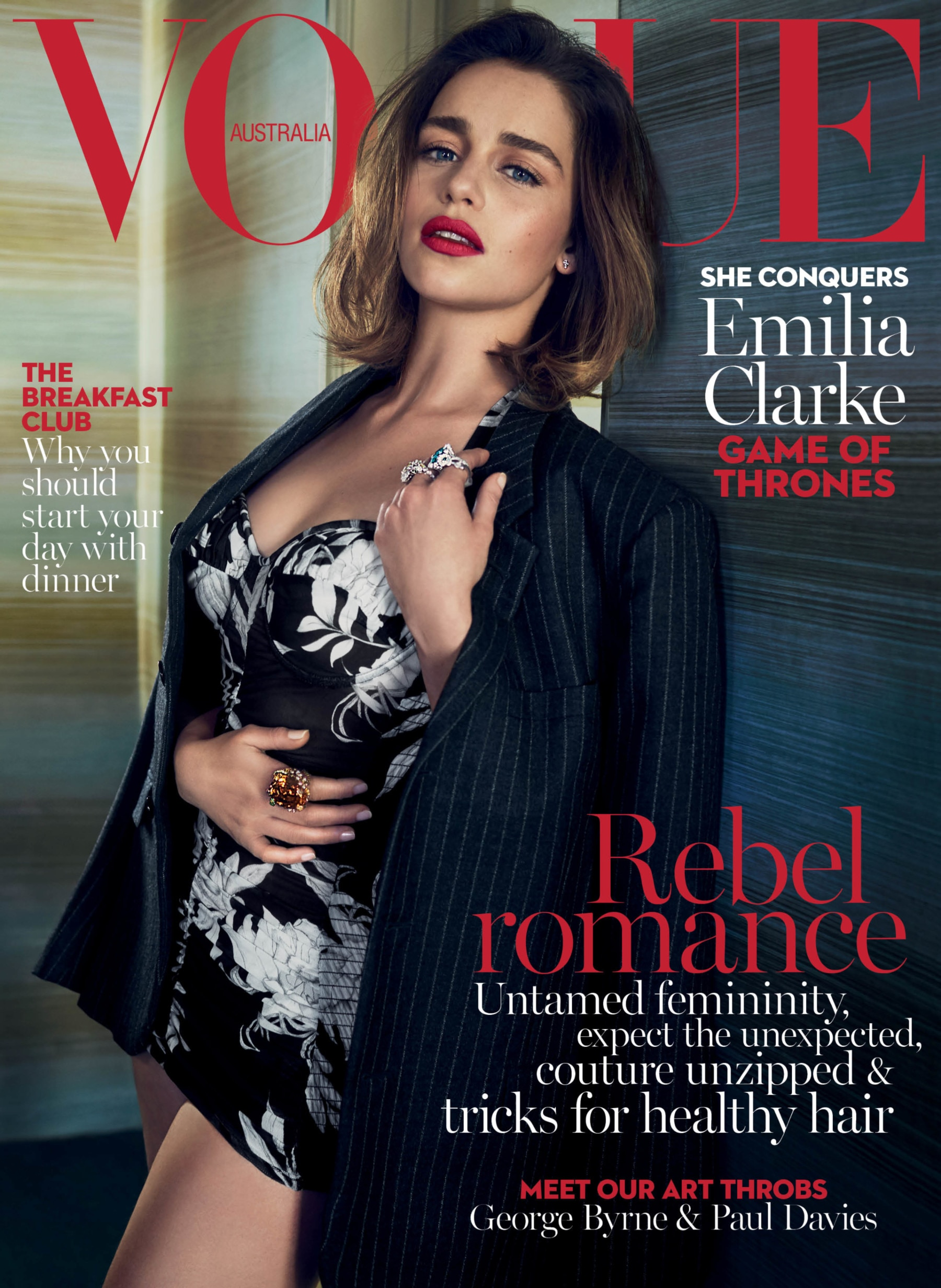 First look: Game of Thrones star Emilia Clarke covers Vogue's May 2016 issue