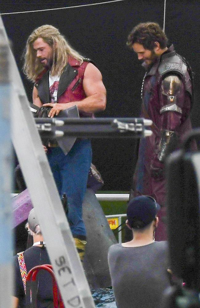 It's the first time the duo have been pictured in costume. Picture: Media-mode.com