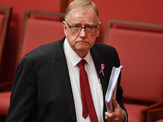 Liberal Senator Ian Macdonald lashed out over the axe of the Gold Life Pass. Picture: AAP/Mick Tsikas