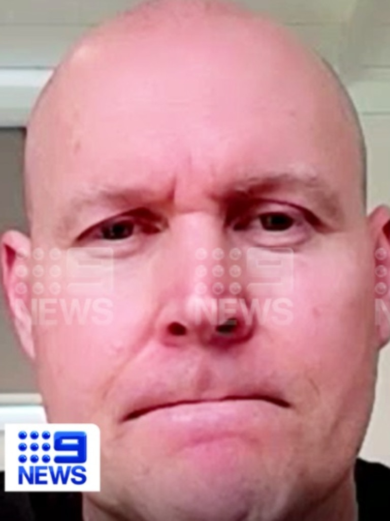 He went with his godfather Pete who is also in quarantine but has so far tested negative. Picture: Nine News