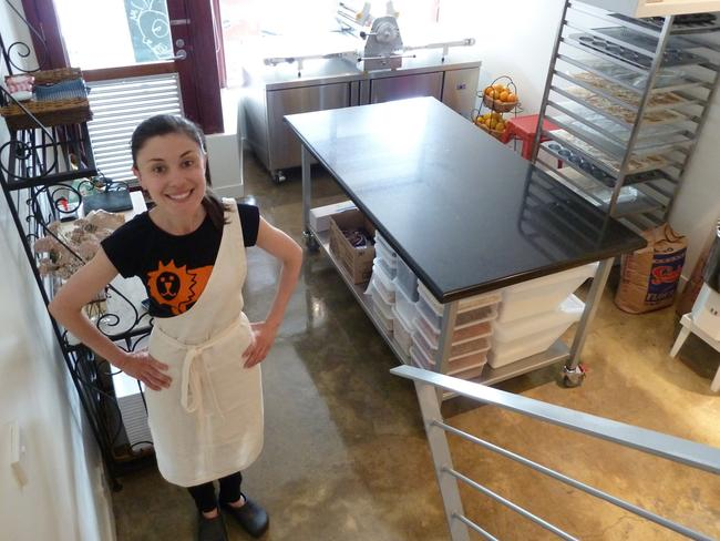 In her element: Reid at the first incarnation of Lune in Elwood. Picture: Supplied