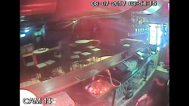 CCTV from the Inflation nightclub police shooting