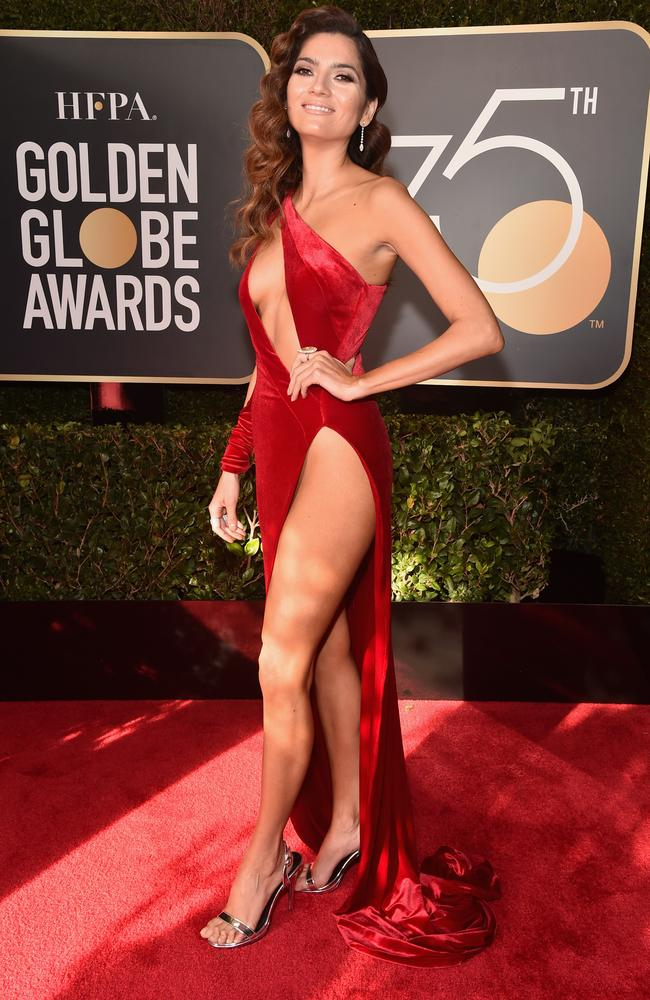 Blanca Blanco wearing THAT dress at the Golden Globes last year. Picture: Getty Images
