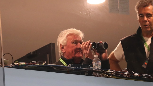 Ray Warren can put down the binoculars for his call of Origin III. Picture. Phil Hillyard