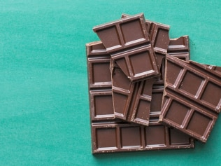 Dark chocolate is actually good for your skin's health. Image: iStock.