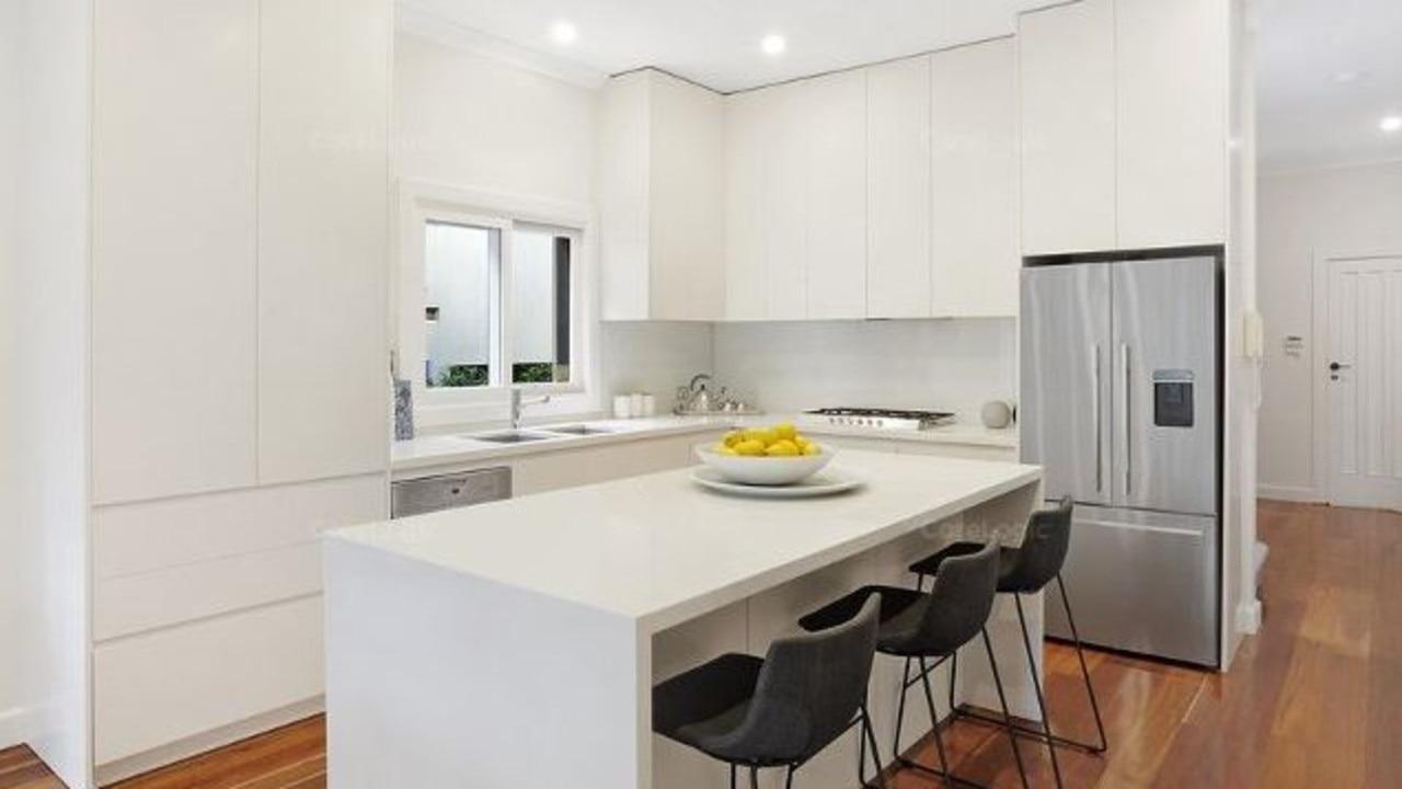 The stylish kitchen.