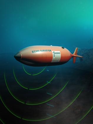 A Fugro autonomous underwater vehicle (AUV) maps 110,000 square kilometres of the remote area's vast sea floor.