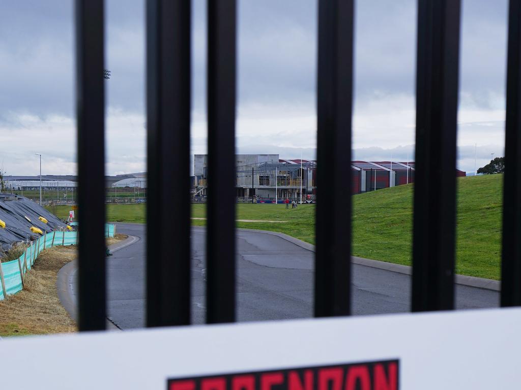 The Essendon Football Club in lockdown.