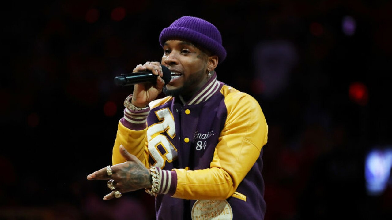 Tory Lanez performing at Game Five of the NBA Finals in 2019. Picture: Gregory Shamus / Getty Images