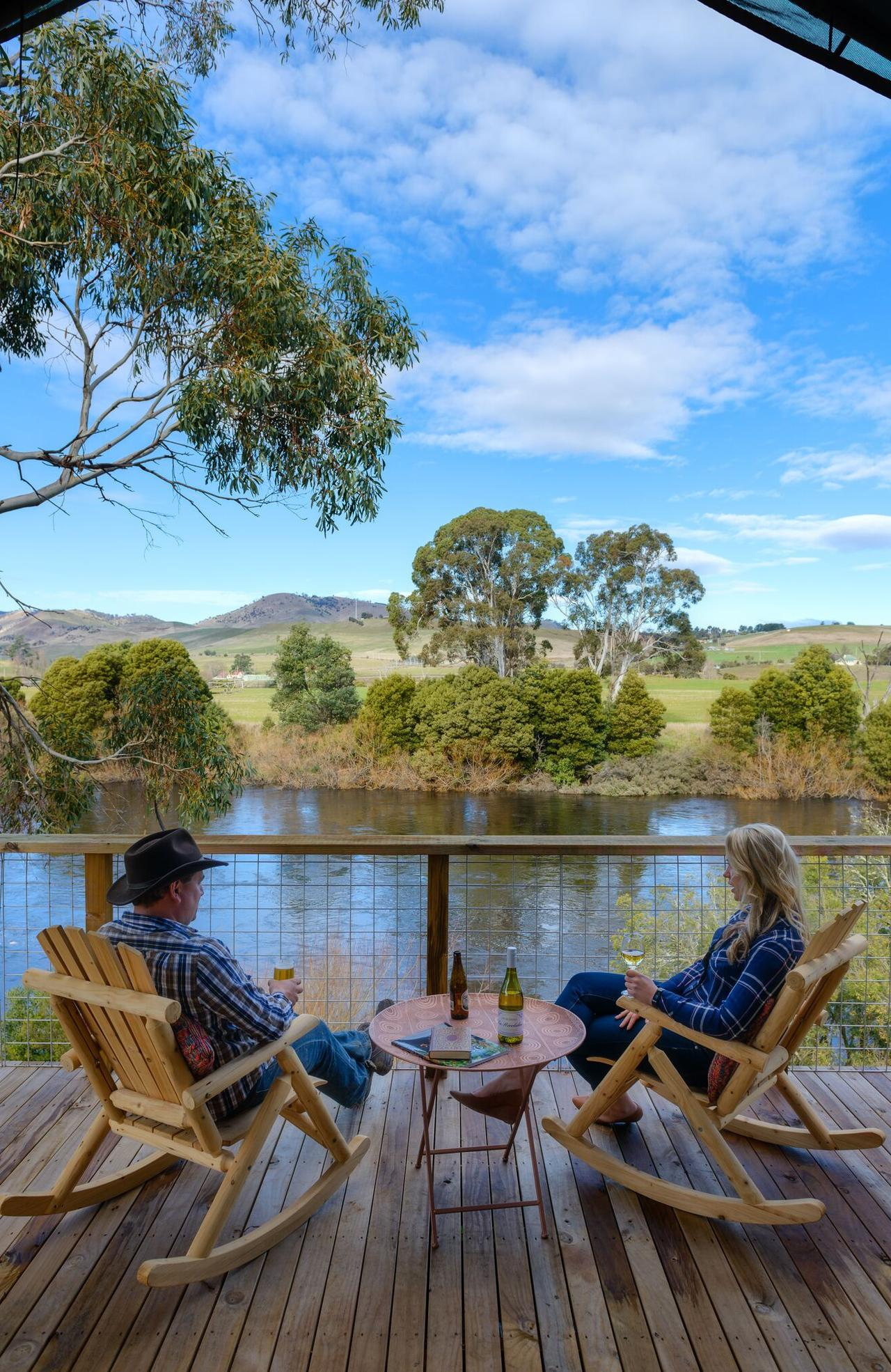 Arabian nights meets an Australian bush camp at Truffle Lodge, a new glamping experience on the banks of Tasmania's tranquil Derwent River  For Wander List in Gold Coast Eye