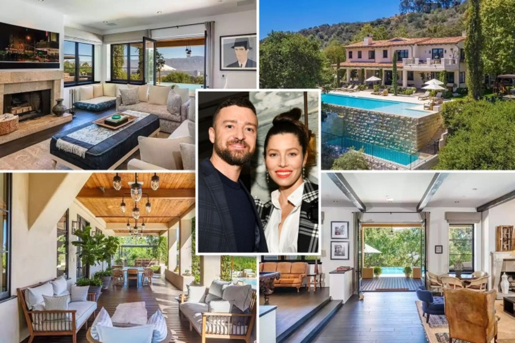 Justin Timberlake and Jessica Biel have listed their LA mansion. Picture: Realtor