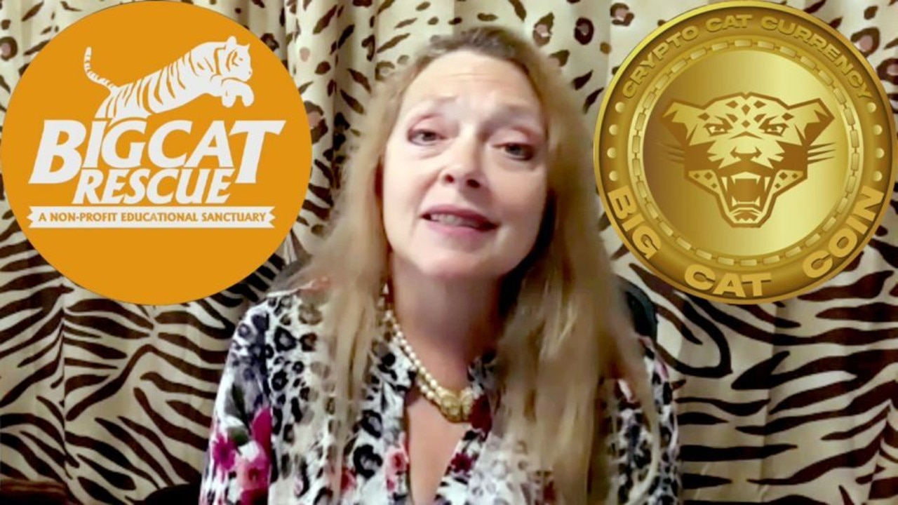 Carole Baskin announces Big Cat Coin cryptocurrency.