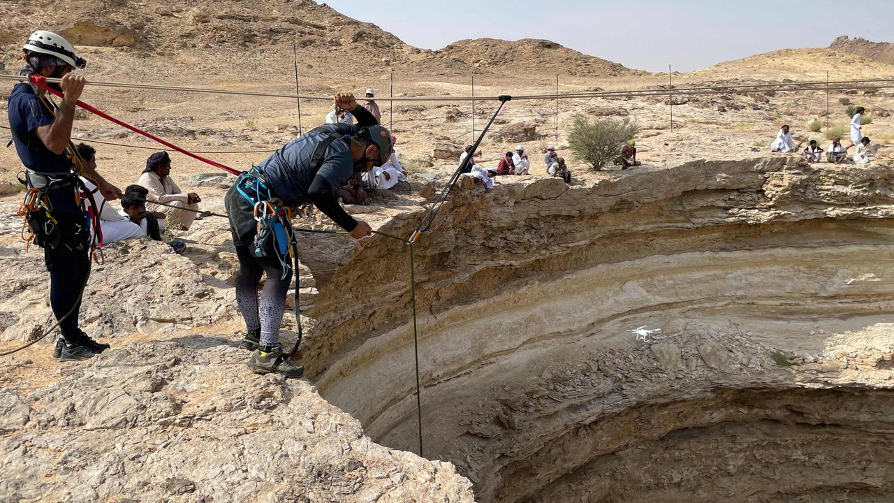 The mission is a world first to the bottom. Picture: Oman Cave Exploration Team/AFP