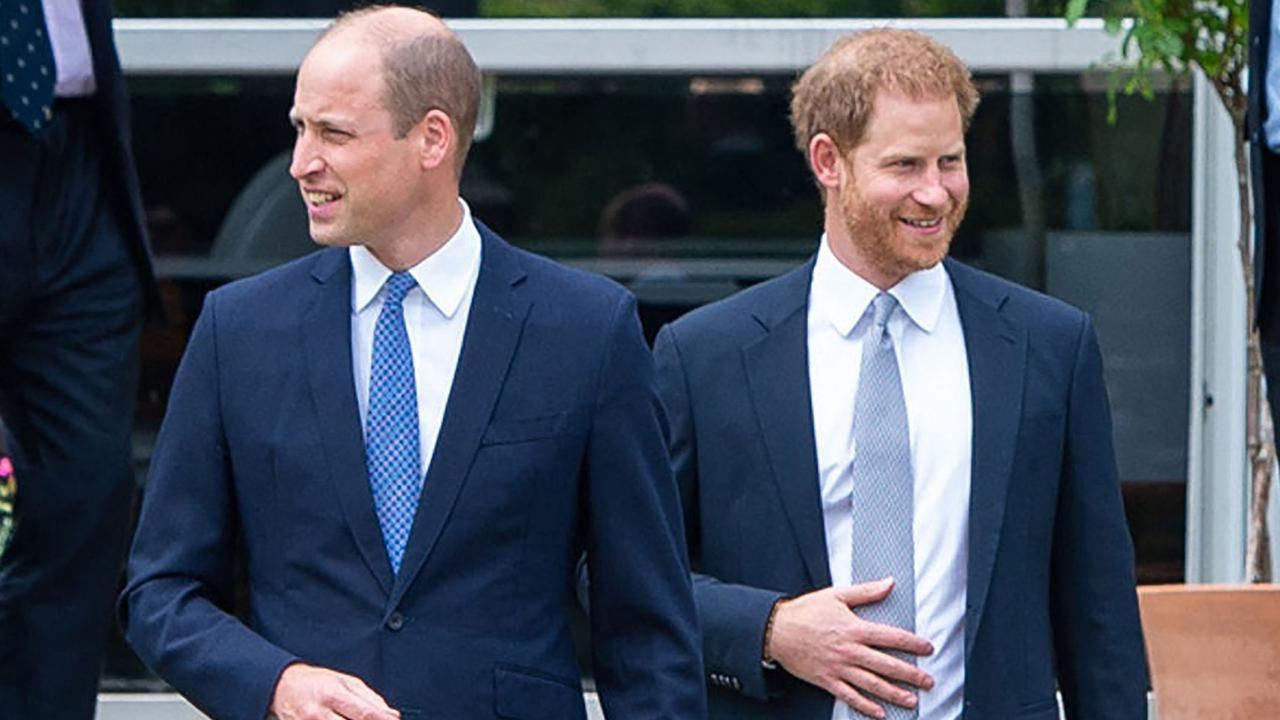 William and Harry were last together on July 1 for the unveiling of a statue of their mother, Princess Diana at The Sunken Garden in Kensington Palace. Picture: AFP.