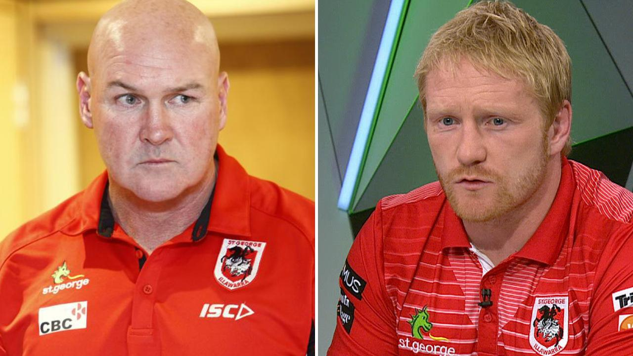James Graham (right) says Paul McGregor is not 100% responsible for the Dragons' form slump