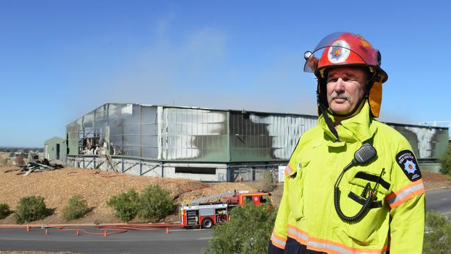 MFS Assistant Chief Fire Officer Phil Kilsby said firefighters are still battling the blaze at the Wingfield recycling depot. (AAP Image/ Brenton Edwards)