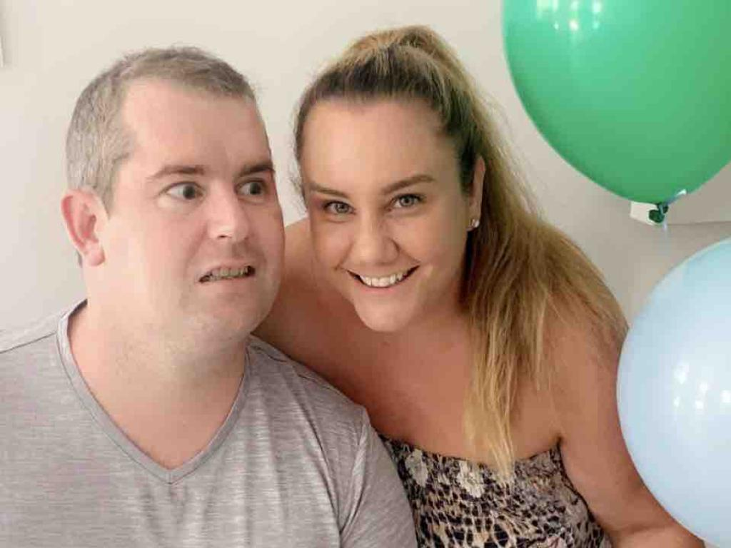 Shaun Bickley and his wife Lauren are hopeful that new medication could help future stroke victims. Picture: Supplied