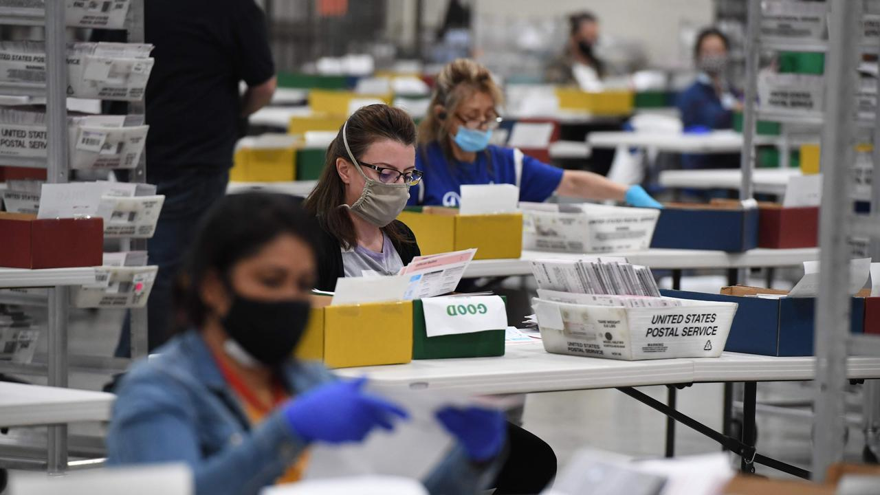 A record number of Americans are casting mail-in ballots this year. Picture: Robyn Beck/AFP