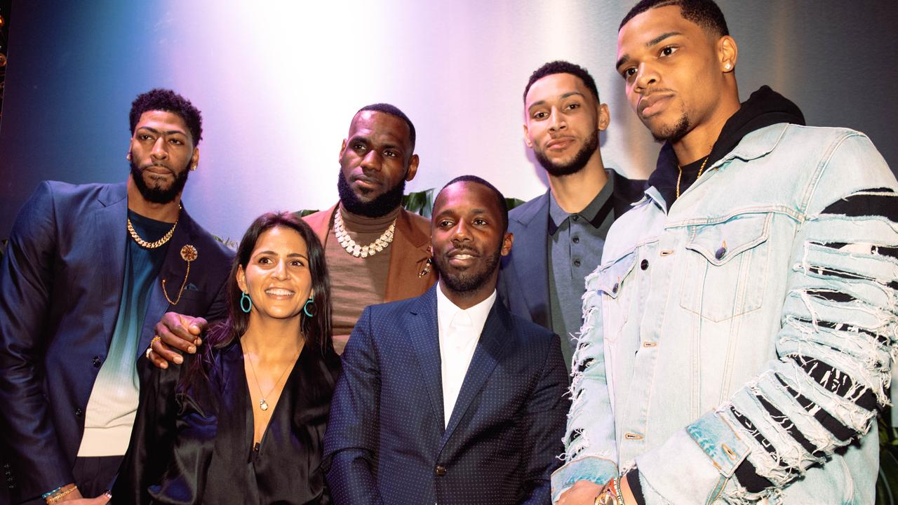 Anthony Davis, Fara Leff, LeBron James, Rich Paul, Ben Simmons, and Miles Bridges attend the Klutch 2019 All Star Weekend Dinner. (Photo by Dominique Oliveto/Getty Images for Klutch Sports Group 2019 All Star Weekend)