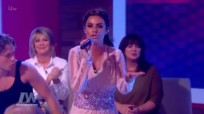 Katie price sings her new single live