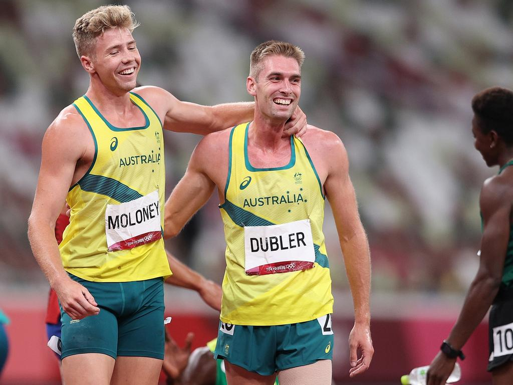 Ash Moloney couldn't have done it without Cedric Dubler. (Photo by Patrick Smith/Getty Images)